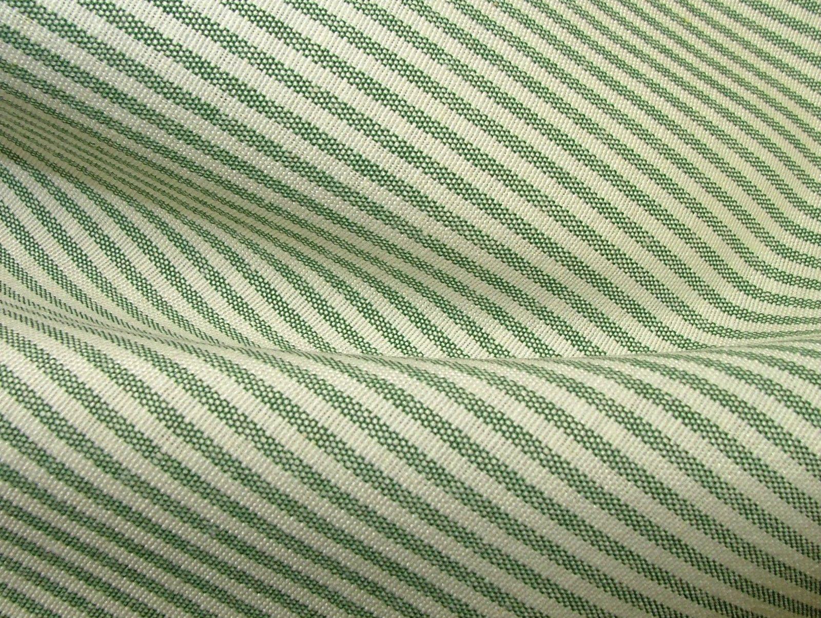 Prestigious Textiles Christmas D Green Ticking Curtain
